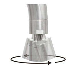 Mezclador monocomando Tramontina de acero inoxidable con pico articulado