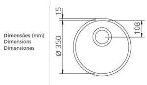 """94073/500 CUBETA REDONDA Ø350mm"""