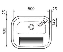 """""""94400/107 LAVAROPA 500X400mm"""""""