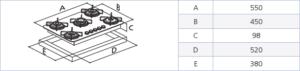 """""""94703/521 PLACA DE COCCION BRASIL 4GG"""""""