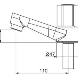 Grifo de Lavamanos 1194 1/2 C-44